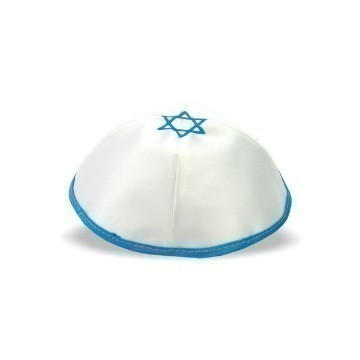 SATIN WHITE AQUA MAGEN DAVID Thumbnail