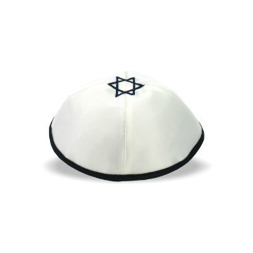 SATIN WHITE NAVY MAGEN DAVID Thumbnail