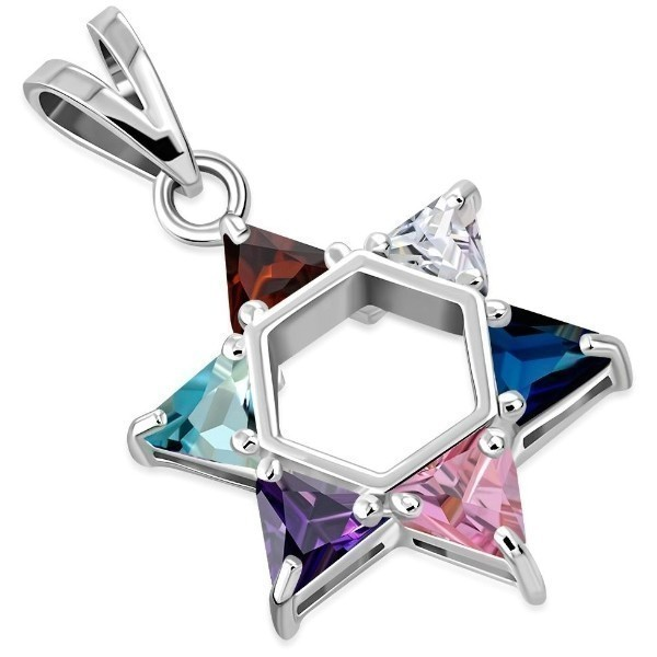 MIX CZ STAR OF DAVID 1.25 Thumbnail