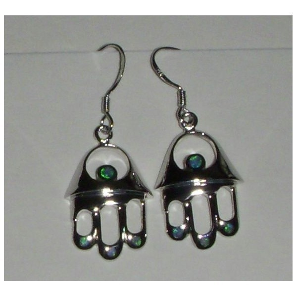 OPAL HAMSA EARRINGS Thumbnail