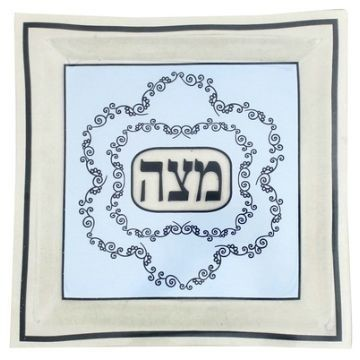 BLUE ORNAMENT MATZA PLATE Thumbnail