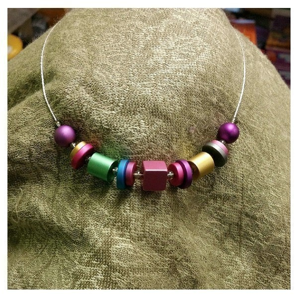 ANODIZED ALUMINUM RAINBOW BRIGHT NECK Thumbnail
