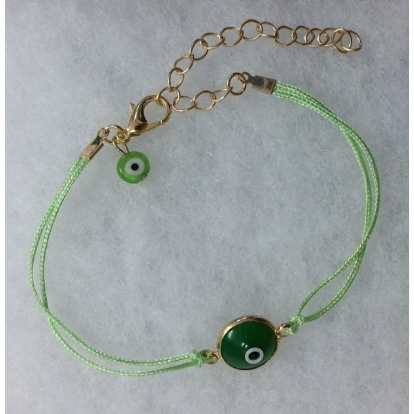 EVIL EYE GREEN BRACELET Thumbnail