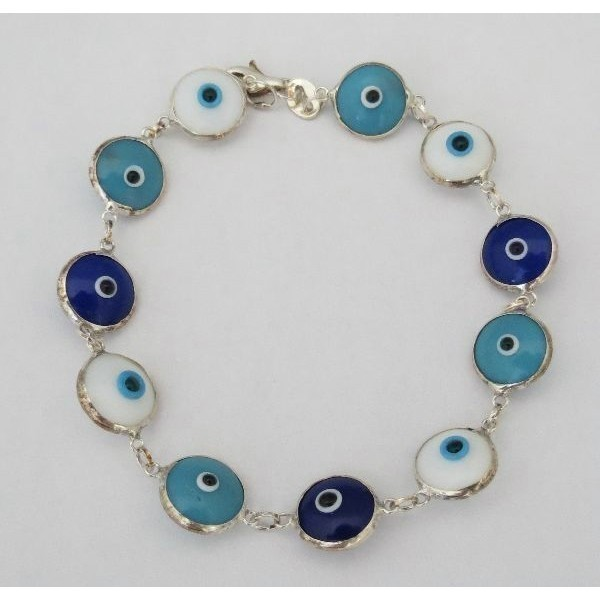 EVIL EYE BLUE AND WHITE Thumbnail