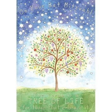 BAT MITZVAH TREE CARD Thumbnail