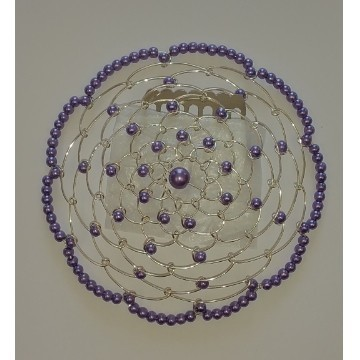 BEADED KIPPAH IN TANZANITE Thumbnail