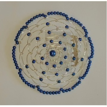 BEADED KIPPAH BLUE Thumbnail