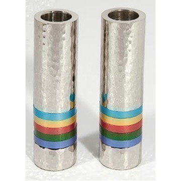 CYLINDER HAMMERED BLUE CANDLES Thumbnail