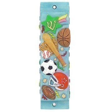 CERAMIC BLUE SPORTS MEZUZAH Thumbnail