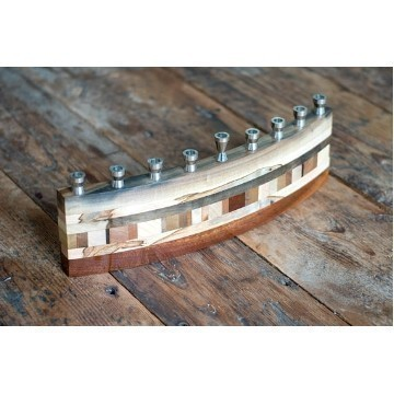 HALF CIRCLE WOOD MENORAH Thumbnail