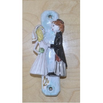 BRIDE AND GROOM WEDDING MEZUZA Thumbnail
