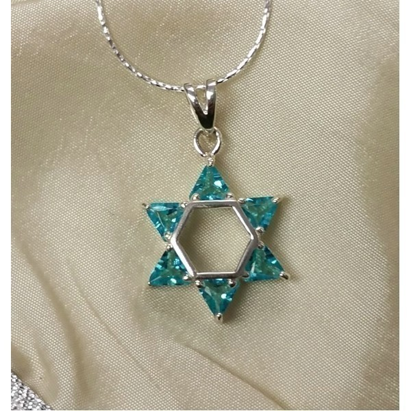 AQUA MAGEN DAVID STONE NECK Thumbnail