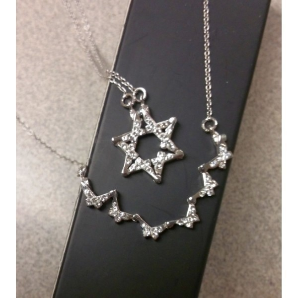 BUTTERFLY STAR OF DAVID NECKLACE Thumbnail