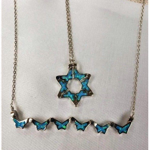 BUTTERFLY STAR OF DAVID-OPAL Thumbnail