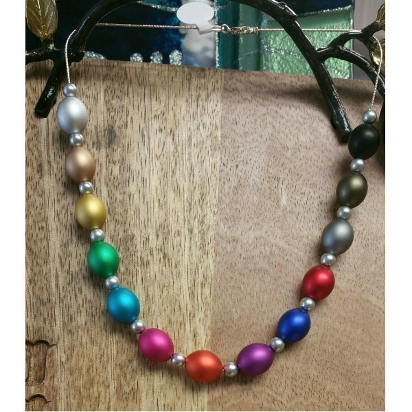 OVAL RAINBOW NECKLACE Thumbnail