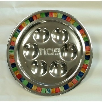 MOSAIC SEDER PLATE MULTI COLOR Thumbnail