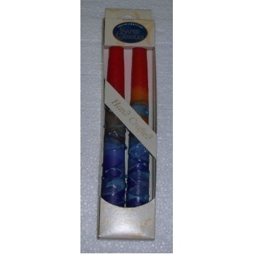 SHABBAT TAPERS RAINBOW RED Thumbnail