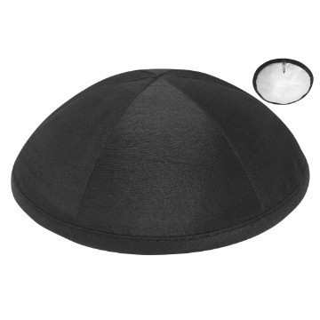 RAW SILK DELUXE KIPPA BLACK Thumbnail