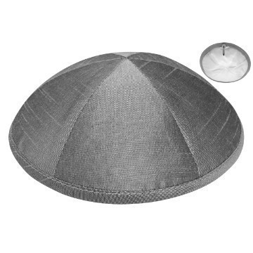 RAW SILK DELUXE KIPPA CHARCOAL Thumbnail