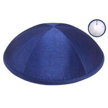 RAW SILK DELUXE KIPPA ROYAL BLUE Thumbnail