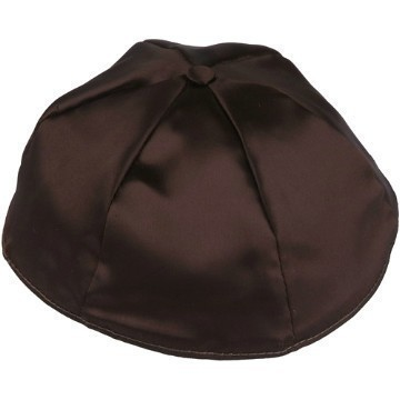 BROWN SATIN KIPPOT Thumbnail