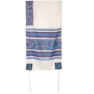 JERUSALEM BLUE PAINTED SILK Thumbnail