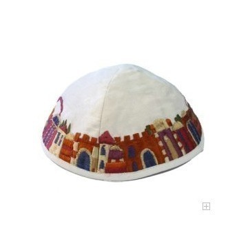 JERUSALEM EMBROIDERED KIPPAH Thumbnail