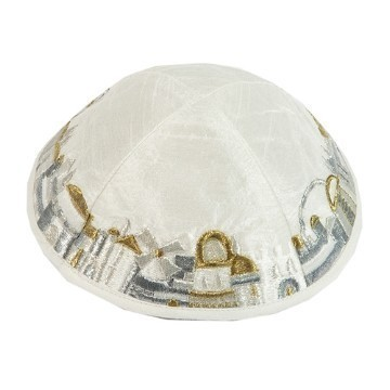 JERUSALEM KIPPA IN SILV & GOLD Thumbnail