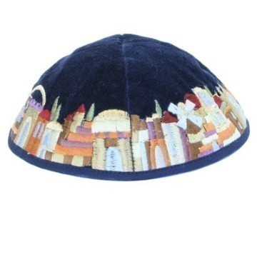 JERUSALEM COLORS VELVET KIPPA Thumbnail