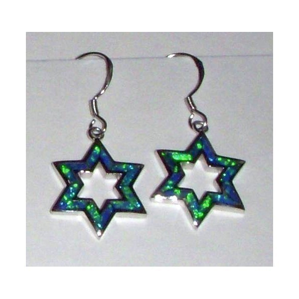 OPAL STAR EARRINGS BLUE Thumbnail
