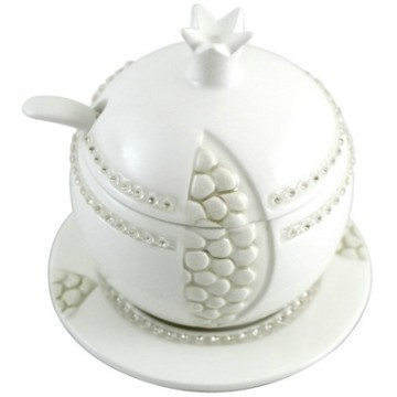 WHITE POMEGRANATE HONEY POT Thumbnail