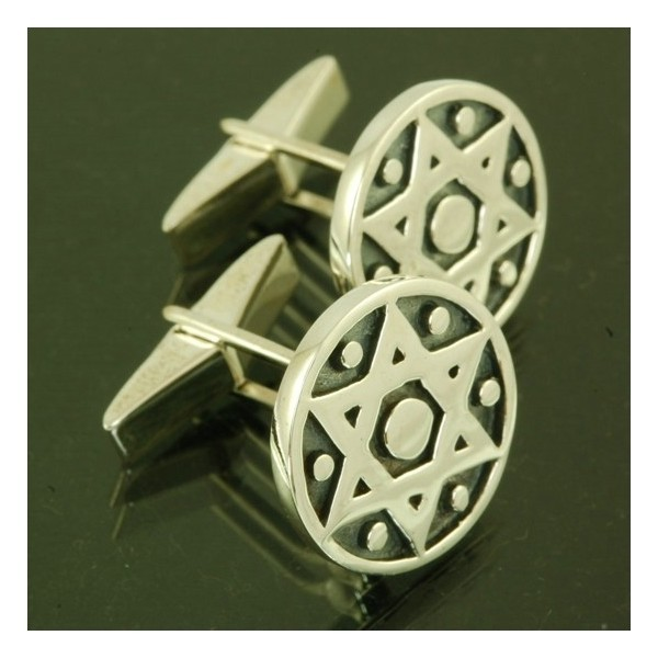STAR CUFFLINKS IN STERLING  Thumbnail
