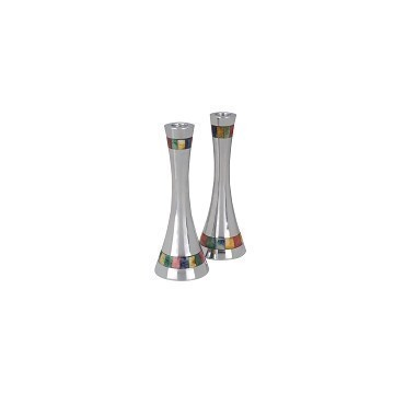 MOSAIC MULTI COLOR INLAY ROUND CANDLEHOLDER Thumbnail