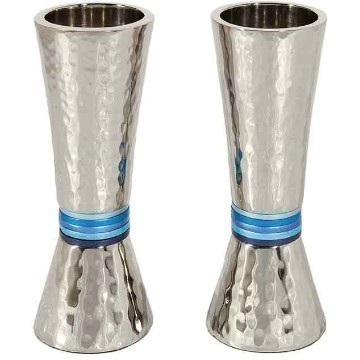 CONE HAMMERED BLUE CANDLES Thumbnail