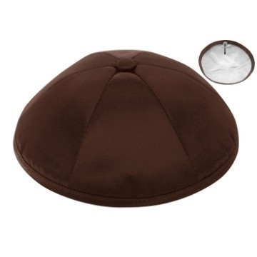 BROWN SATIN DELUXE KIPPOT Thumbnail