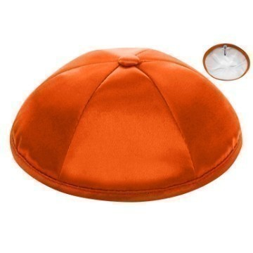 ORANGE SATIN DELUXE KIPPOT Thumbnail