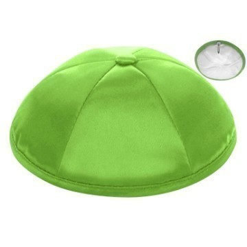 LIME GREEN SATIN DELUX KIPPOT Thumbnail