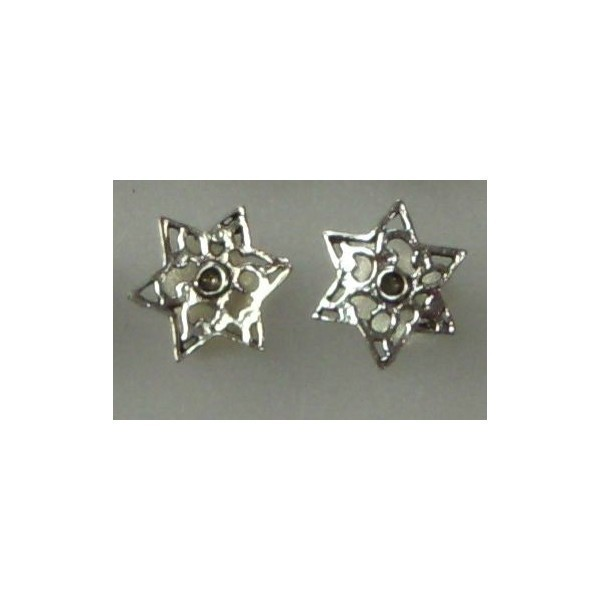 STAR OF DAVID STUD EARRINGS Thumbnail