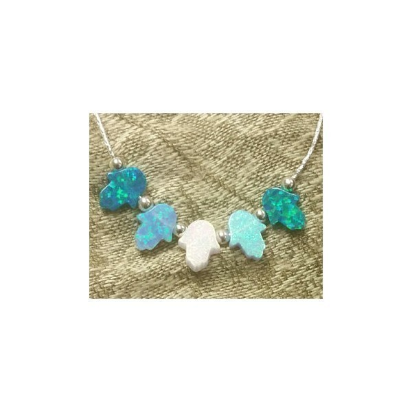 5 OPAL HAMSAS-Ocean, Turquoise and White Opal Thumbnail