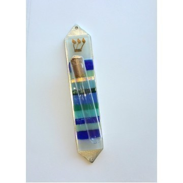 BLUE & GREEN SHARDS MEZUZAH Thumbnail