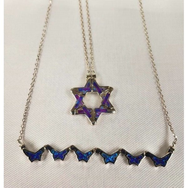 BUTTERFLY STAR OF DAVID- VIOLET OPAL Thumbnail