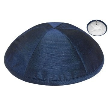 RAW SILK DELUXE KIPPA NAVY Thumbnail