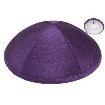 RAW SILK DELUXE KIPPA PURPLE Thumbnail