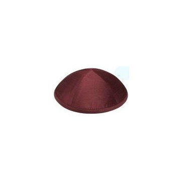 RAW SILK DELUXE KIPPA BURGUNDY Thumbnail