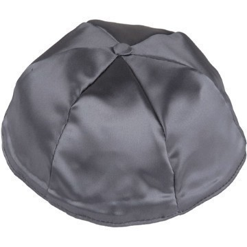 DARK GREY SATIN KIPPOT Thumbnail