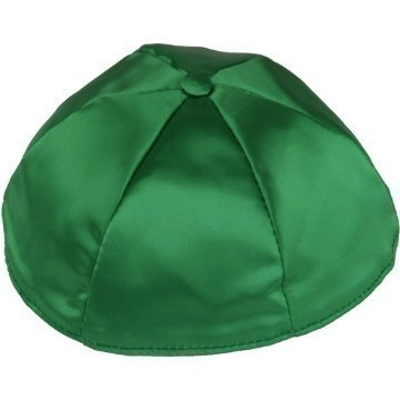 DARK GREEN SATIN KIPPOT Thumbnail