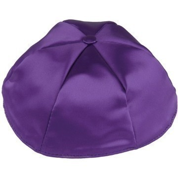 DARK PURPLE SATIN KIPPOT Thumbnail