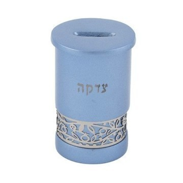 ANODIZED FILAGREE TZEDAKAH BOX Thumbnail
